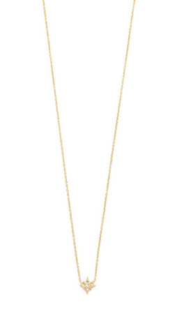 Jacquie Aiche Ja Starburst Necklace - Gold/Clear
