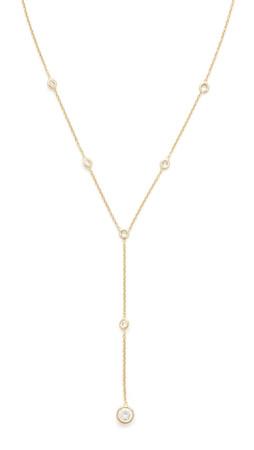 Jacquie Aiche Ja Vz Bezel Y Necklace - Gold/Clear