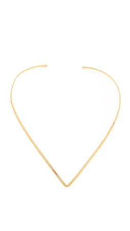 Jennifer Zeuner Jewelry Tilda Choker Necklace - Gold