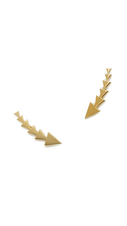 Jennifer Zeuner Jewelry Triangle Ear Crawlers - Gold