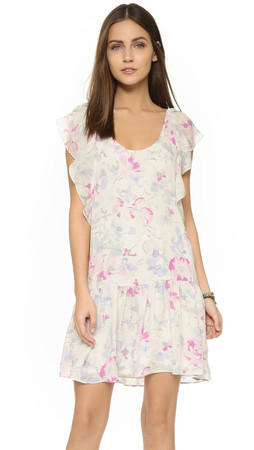 Joie Larose Dress - Porcelain With Tulip
