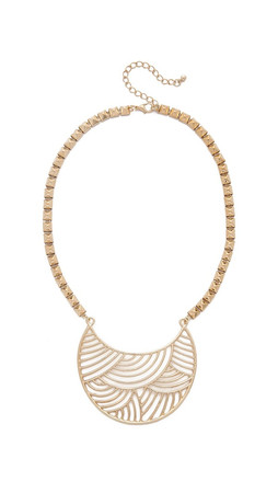 Jules Smith Chunky Chain Crescent Bib Necklace - Gold