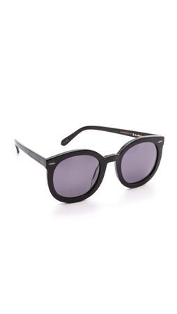 Karen Walker Special Fit Super Duper Strength Sunglasses - Black/Smoke Mono