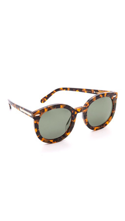 Karen Walker Special Fit Super Duper Strength Sunglasses - Crazy Tort/G15 Mono