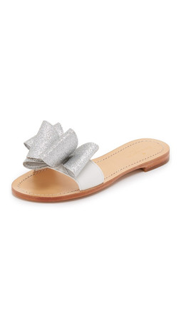 Kate Spade New York Cicely Slides - White/Silver