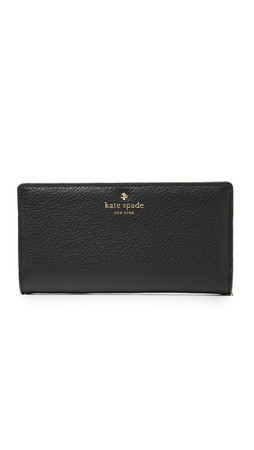Kate Spade New York Cobble Hill Stacy Wallet - Black/Cement