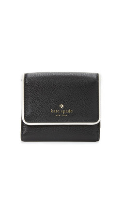 Kate Spade New York Cobble Hill Tavy Wallet - Black/Cement