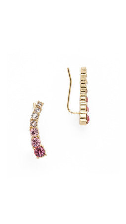 Kate Spade New York Dainty Sparklers Ear Pin Earrings - Pink Multi