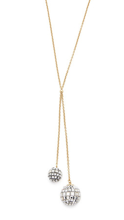 Kate Spade New York Disco Fever Y Necklace - Silver Multi