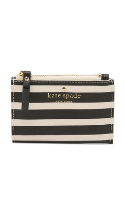 Kate Spade New York Fairmount Sqaure Cori Wallet - Black/Sandy Beach