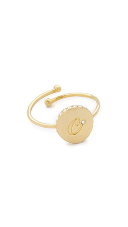 Kate Spade New York Forever Mine Letter Ring - C