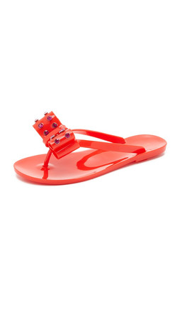 Kate Spade New York Francy Jelly Flip Flops - Red
