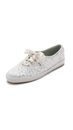 Kate Spade New York Glitter Keds Sneakers - White