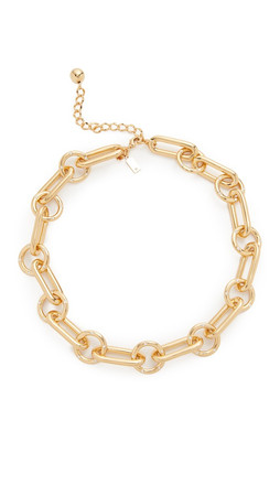 Kate Spade New York Goldie Links Short Necklace - Clear/Gold