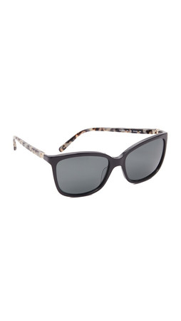 Kate Spade New York Kasey Polarized Sunglasses - Black Havana/Grey