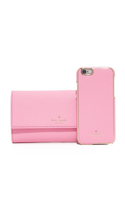 Kate Spade New York Leather Iphone 6 / 6S Phone Wallet - Rouge Pink