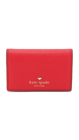 Kate Spade New York Melanie Card Case - Cherry Liqueur