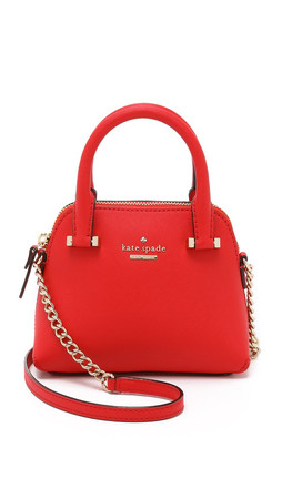 Kate Spade New York Mini Maise Cross Body Bag - Cherry Liqueur