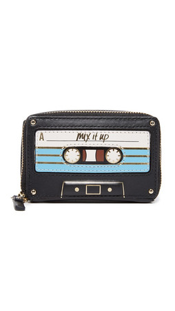 Kate Spade New York Mix Tape Coin Purse - Black Multi