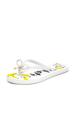 Kate Spade New York Nova Flip Flops - White
