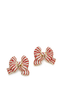 Kate Spade New York Out Of The Loop Bow Statement Studs Earrings - Red Multi