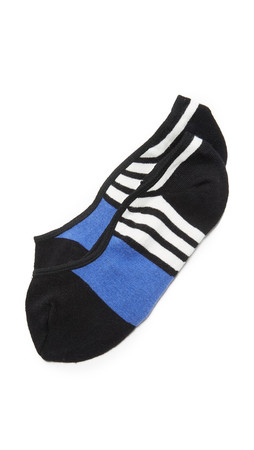 Kate Spade New York Scuba Stripes Liner Socks - Black
