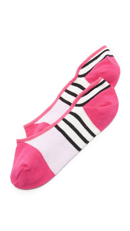 Kate Spade New York Scuba Stripes Liner Socks - Cabernet Pink