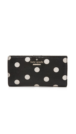 Kate Spade New York Stacy Snap Wallet - Black/Deco Beige