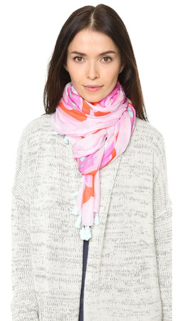 Kate Spade New York Sweet Oblong Scarf - Valentine Pink