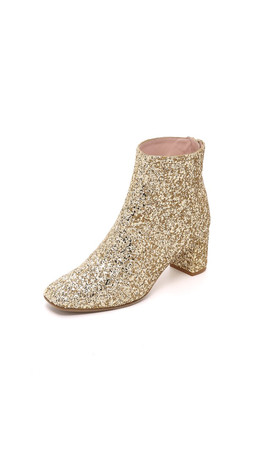 Kate Spade New York Tai Mod Booties - Gold Glitter