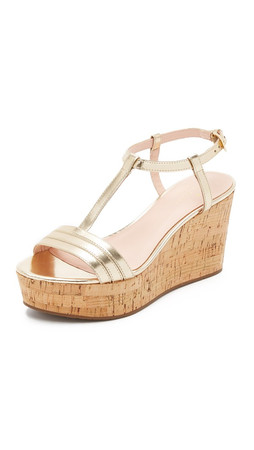 Kate Spade New York Tallin Cork Wedge Sandals - Mushroom