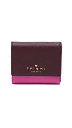 Kate Spade New York Tavy Wallet - Mulled Wine/Vivid Snapdragon