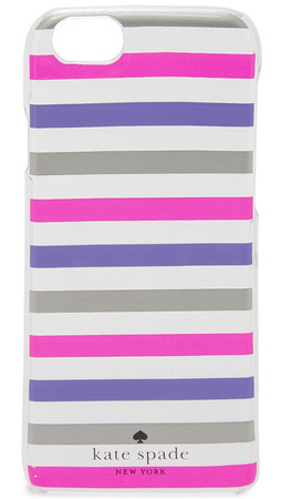 Kate Spade New York Watch Hill Stripe Iphone 6 / 6S Case - Silver/Vivid Snapdragon/Violet