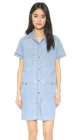 Kenzo Denim Shirt Dress - Bleached Blue
