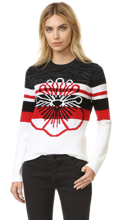 Kenzo Flower Intarsia Sweater - White