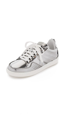 Kenzo Lace Up Sneakers - Argent