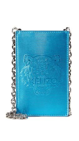 Kenzo Metallic Phone Bag - Turquoise