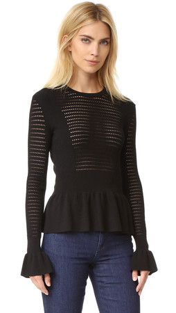 Kenzo Multi Stitch Knit Top - Black