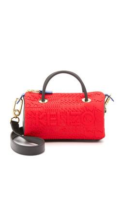 Kenzo Neoprene Mini Duffel Bag - Red