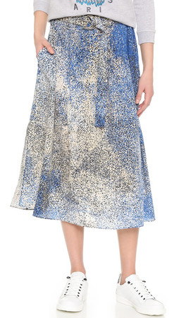 Kenzo Sand Silk Skirt - Royal Blue