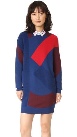 Kenzo Sweater Dress - Peacock