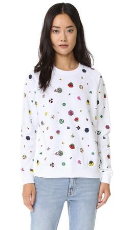 Kenzo Tanami Flower Sweatshirt - White