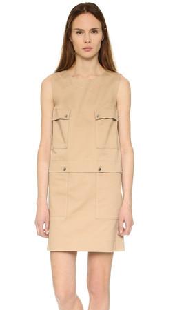 Kenzo Twill Cargo Pocket Dress - Sand