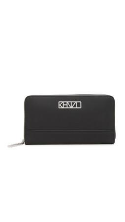 Kenzo Zip Around Wallet - Black