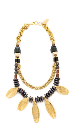 Lizzie Fortunato Moroccan Sun Necklace - Gold Multi