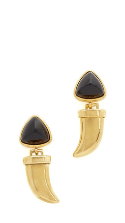 Lizzie Fortunato Onyx Talisman Earrings - Onyx/Gold