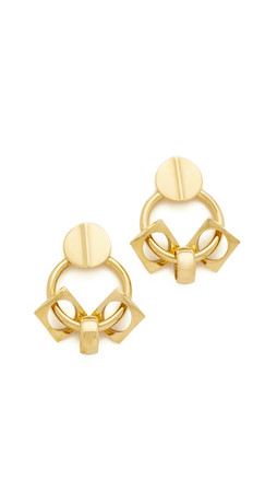 Lizzie Fortunato Retro Earrings - Gold