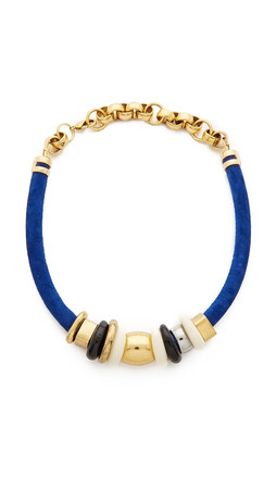 Lizzie Fortunato Treasure Necklace In Surf - Cobalt Multi