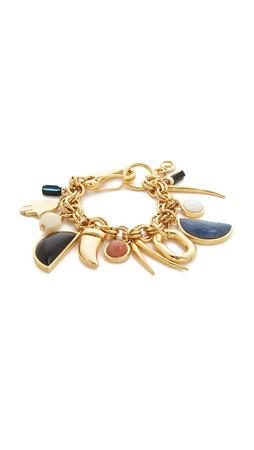 Lizzie Fortunato Voodoo Charm Bracelet - Gold Multi