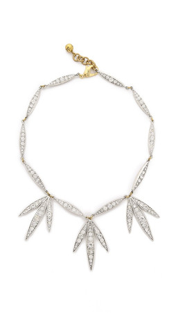 Lulu Frost Datura Leaf Necklace - Clear